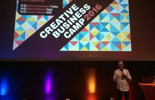Lounaistieto ja avoin data esillä Creative Business Campissa