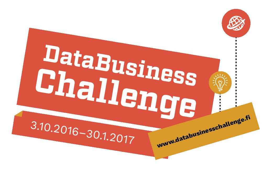 Osallistu DataBusiness Challengeen! Aikaa ideoida ja toteuttaa töitä on tammikuun 2017 loppuun saakka.