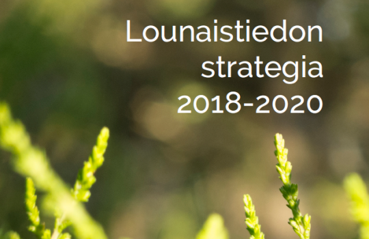 Lounaistiedon strategia 2018–2020