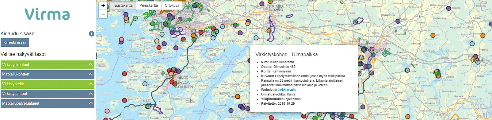 Kuvakappa Virmasta Kiilan uimaranta