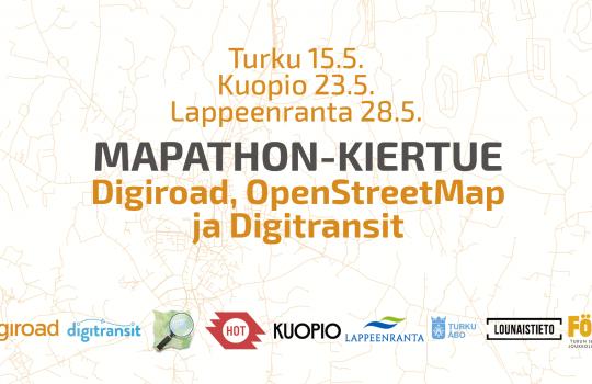 Tervetuloa mapathon-kartoitustapahtumaan!