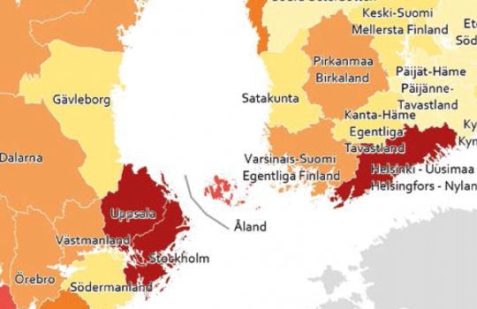 Suomen maakunnat häviävät pohjoismaisessa vertailussa